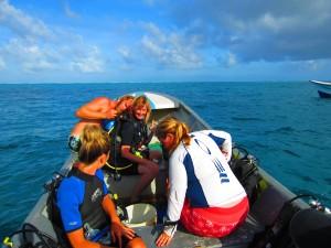 Shelley's first scuba dive