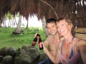 Keith and Shelley enjoying a beer
