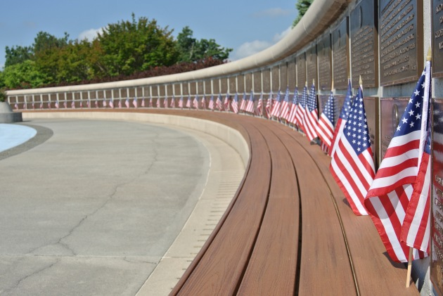 The wall of Allied losses, where the name of each U.S. soldier killed on D-Day is commemorated.