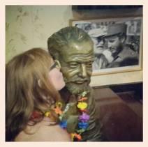 At least I got to kiss Hemingway's cheek at his favorite Havana bar, La Floridita